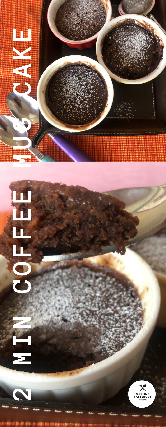 2min Coffee Cocoa Mug Cake Eggless too ! Easy Cake