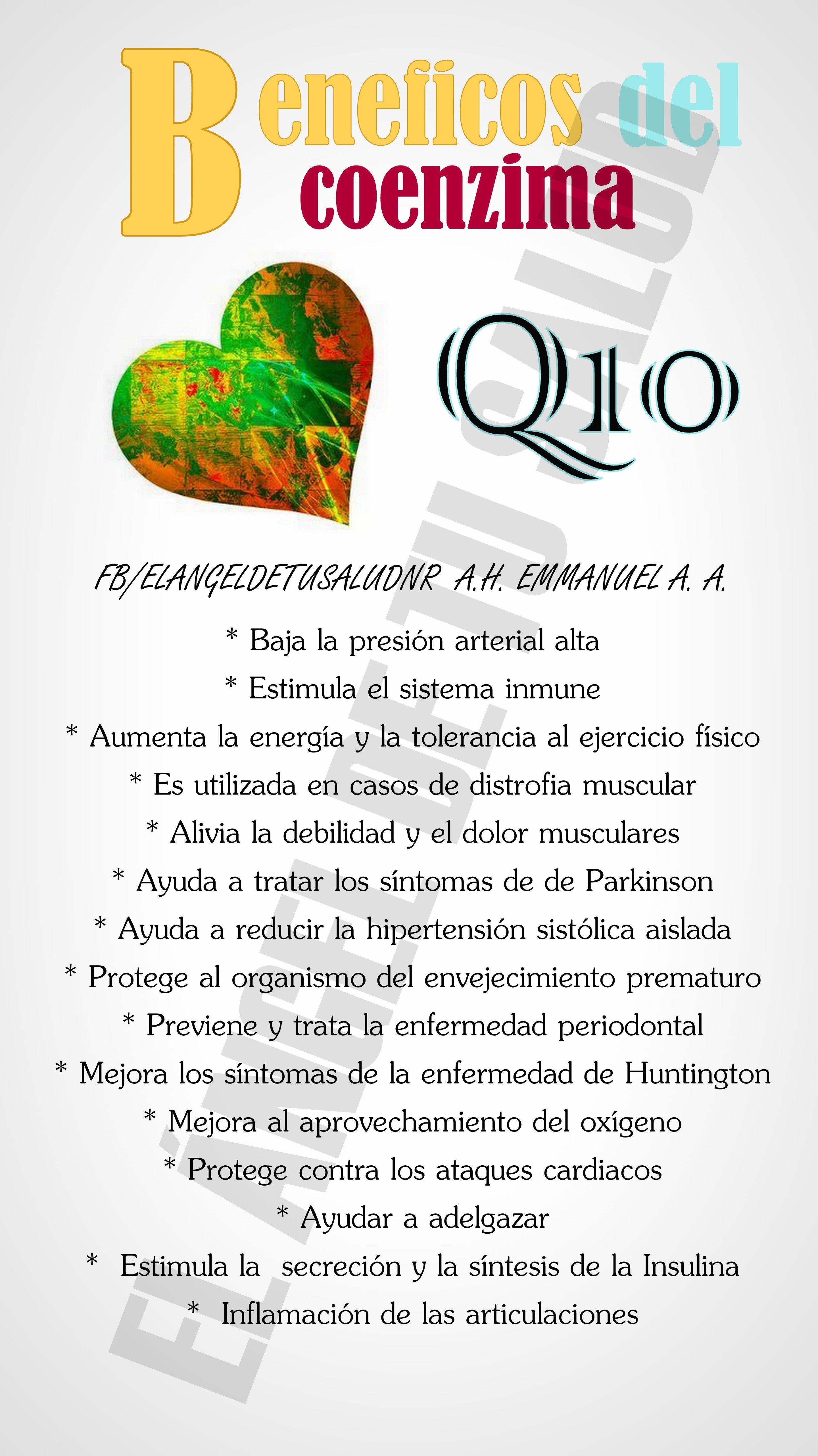 La coenzima q10 sirve para adelgazar