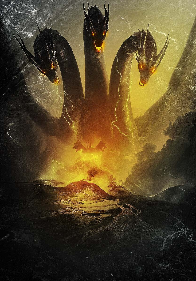 Artstation Ghidorah Imaginative Hobbyist All Godzilla Monsters Godzilla Godzilla Wallpaper