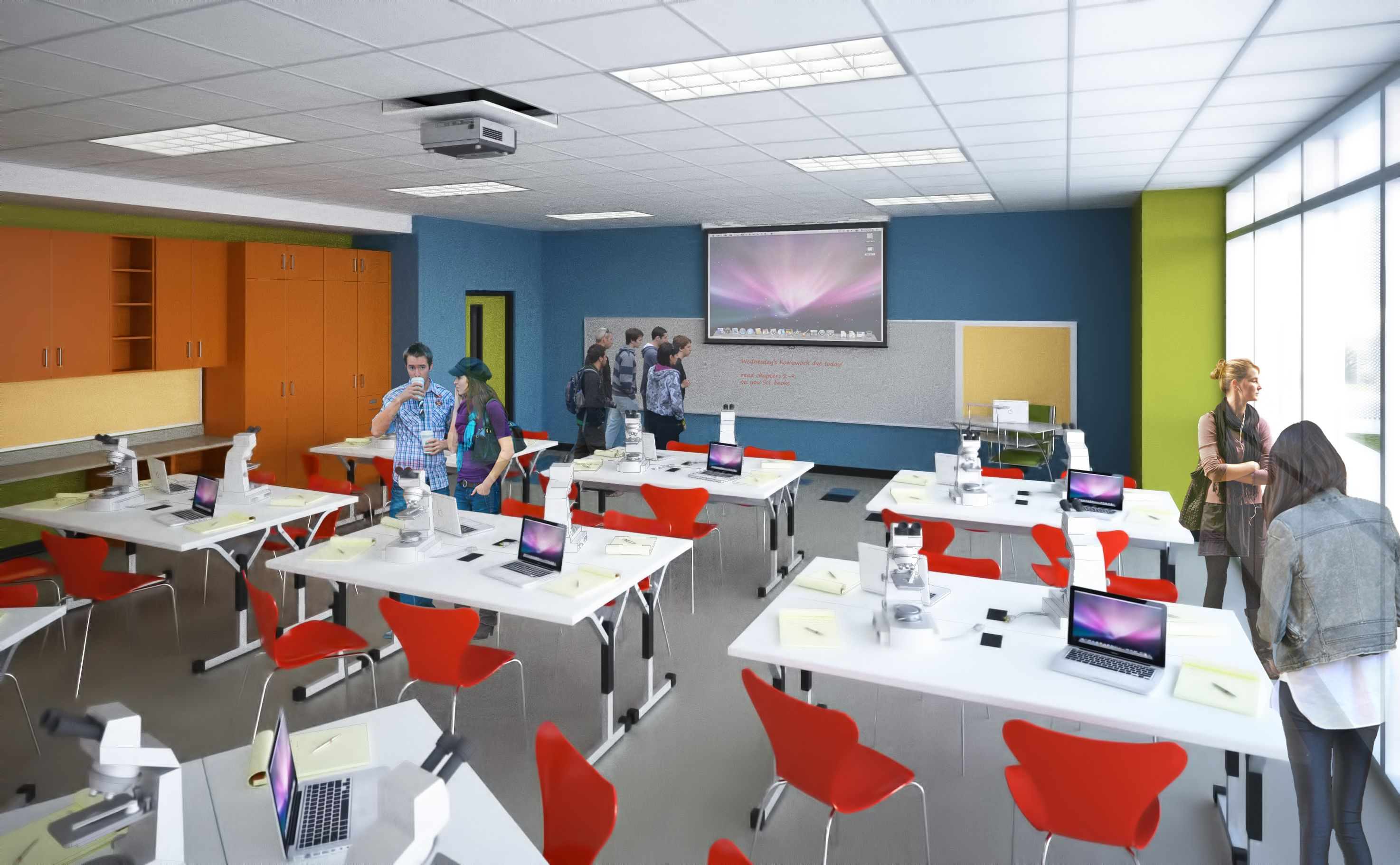 Conventional ideas about classroom design have been adapted for ...