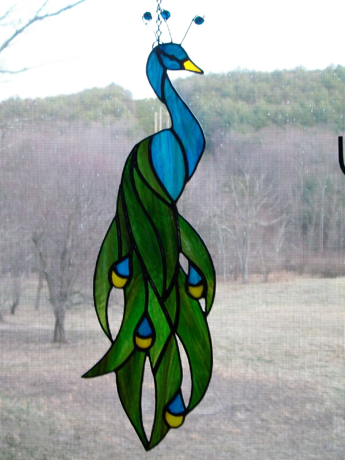 Stained glass peacock by ShinyStuffGlass on Etsy | Art ... - photo#26