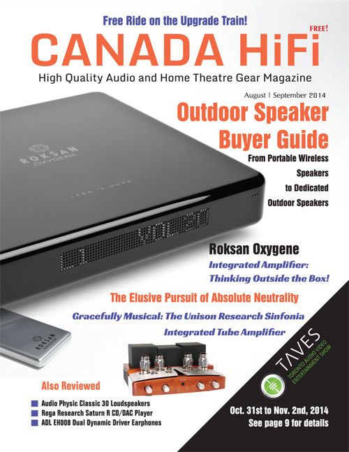 CANADA HIFI magazine's Aug/Sept edition is now available for free in