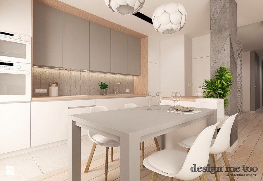 Nowoczesny Apartament Na Wilanowie Wersja I Srednia Otwarta Kuchnia W Ksztalcie Litery L Styl Now Kitchen Interior Kitchen Room Design Modern Kitchen Design