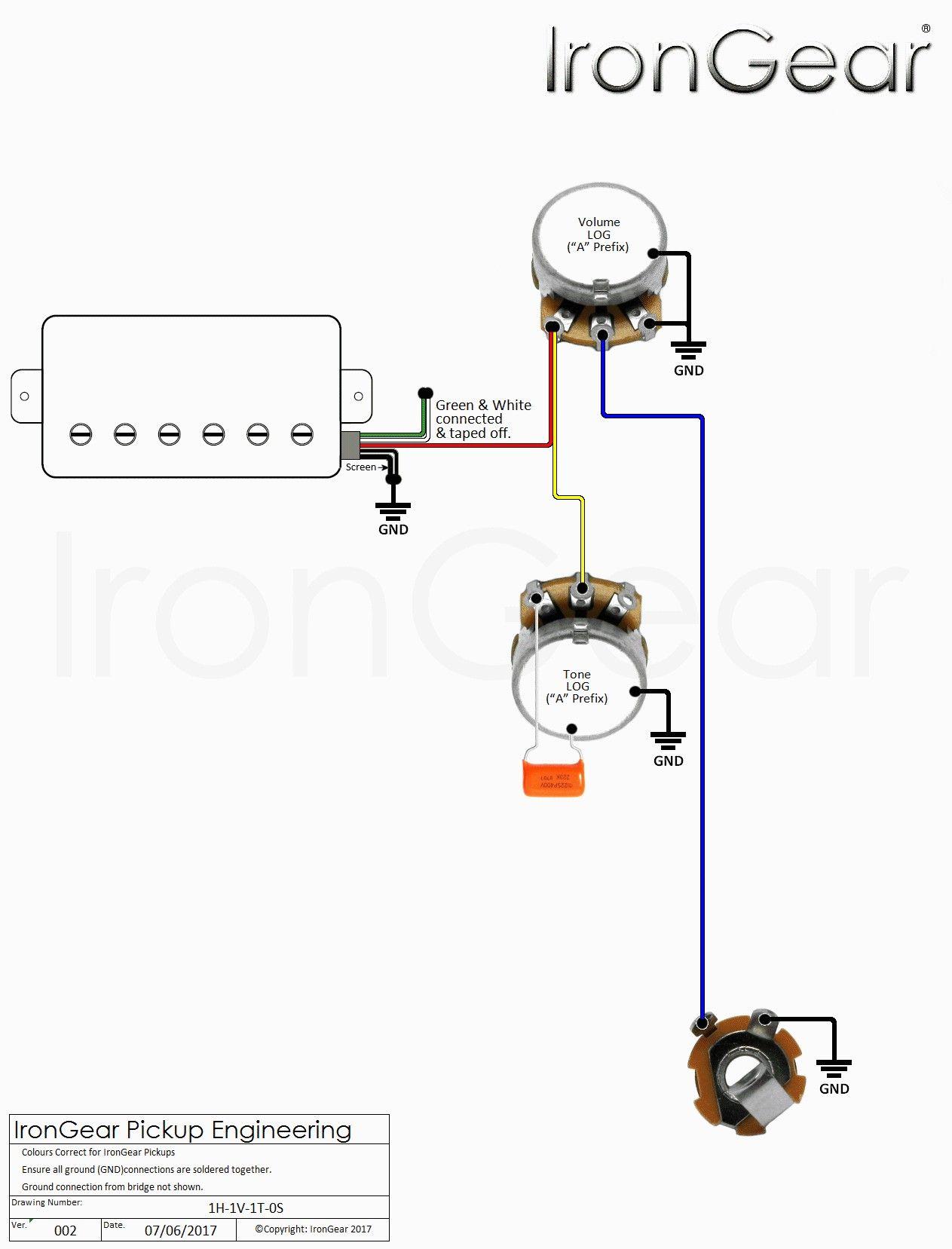 Irongear Pickups Wiring Volume Tones Guitar Pickups