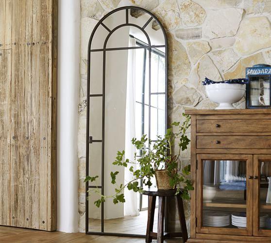 Distiller Metal Arch Floor Mirror In 2019 Living Space