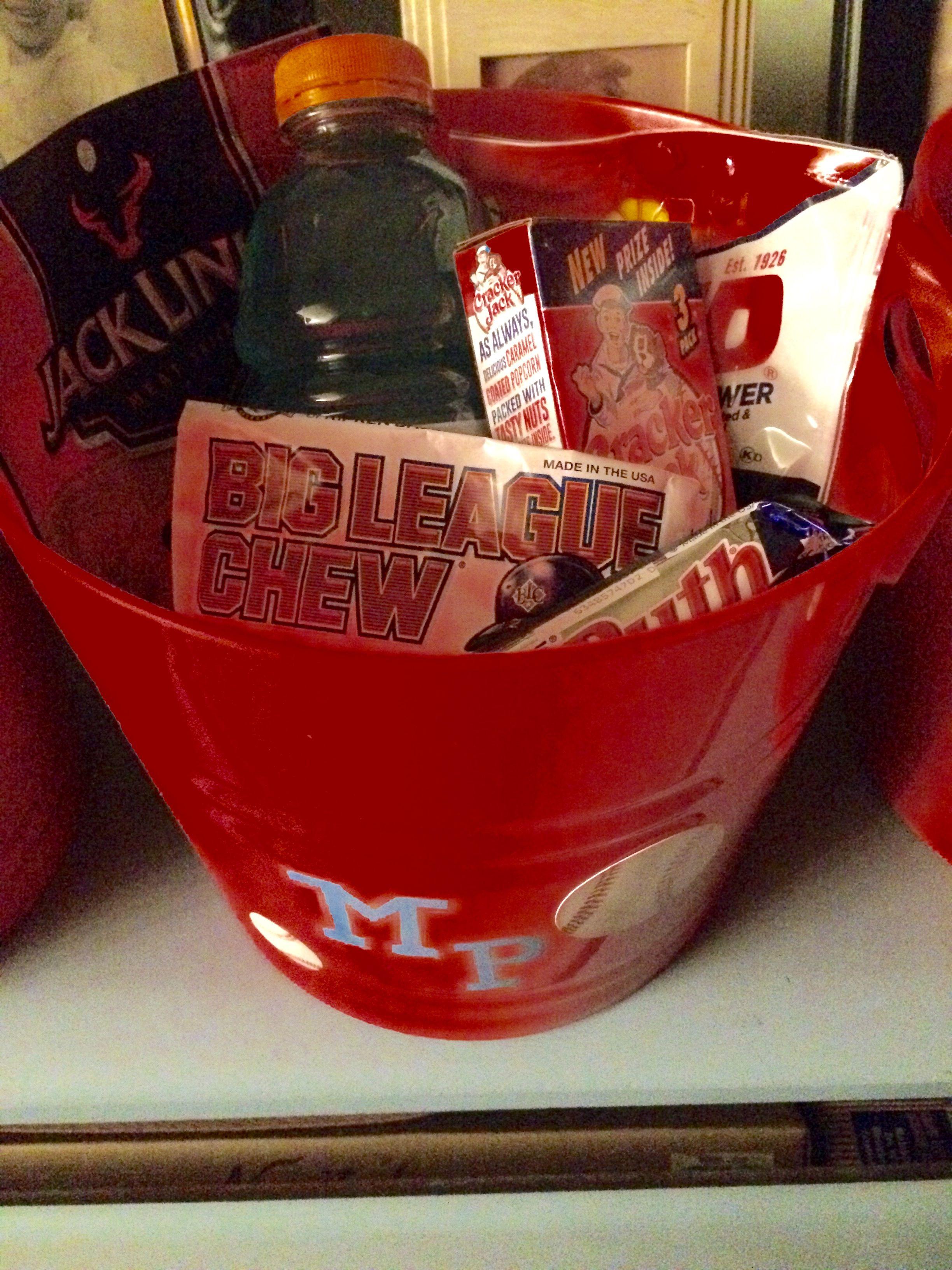 Baseball Fan Sports Gift Basket | M.R.Designs & GiftsM.R ...  |Baseball Sympathy Gifts