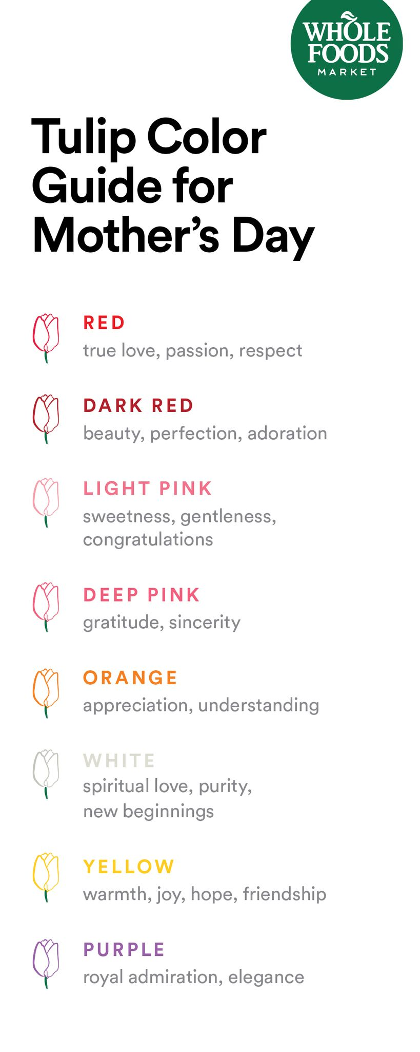 Discover The Meaning Of Every Tulip Color Tulip Colors Tulips Meaning Tulips