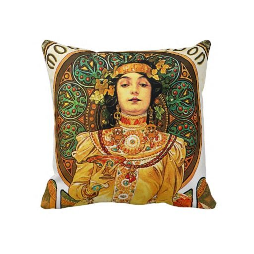 Alphonse mucha pillow. I have the fabric, jsut need to sew!