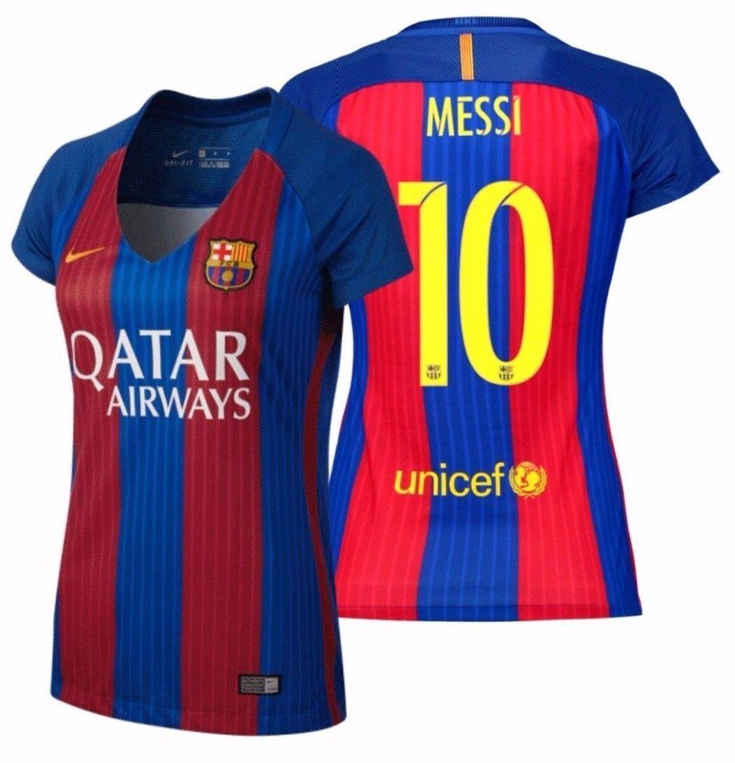 Nike lionel messi fc barcelona women's home jersey 2016/17 qatar