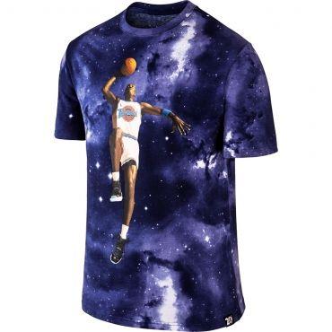 Comfortable Jordan T Shirt Mens White Blue Lagoon Black Nike