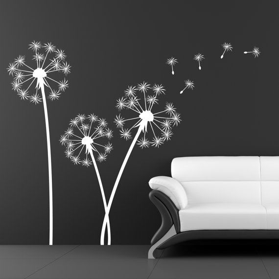 Dandelion Sticker   Sticker Wall Decal   Home Decor   Vinyl Sticker