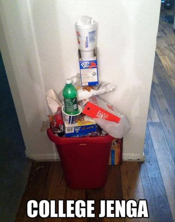 College nuthin' - we still do this with our recyclables!