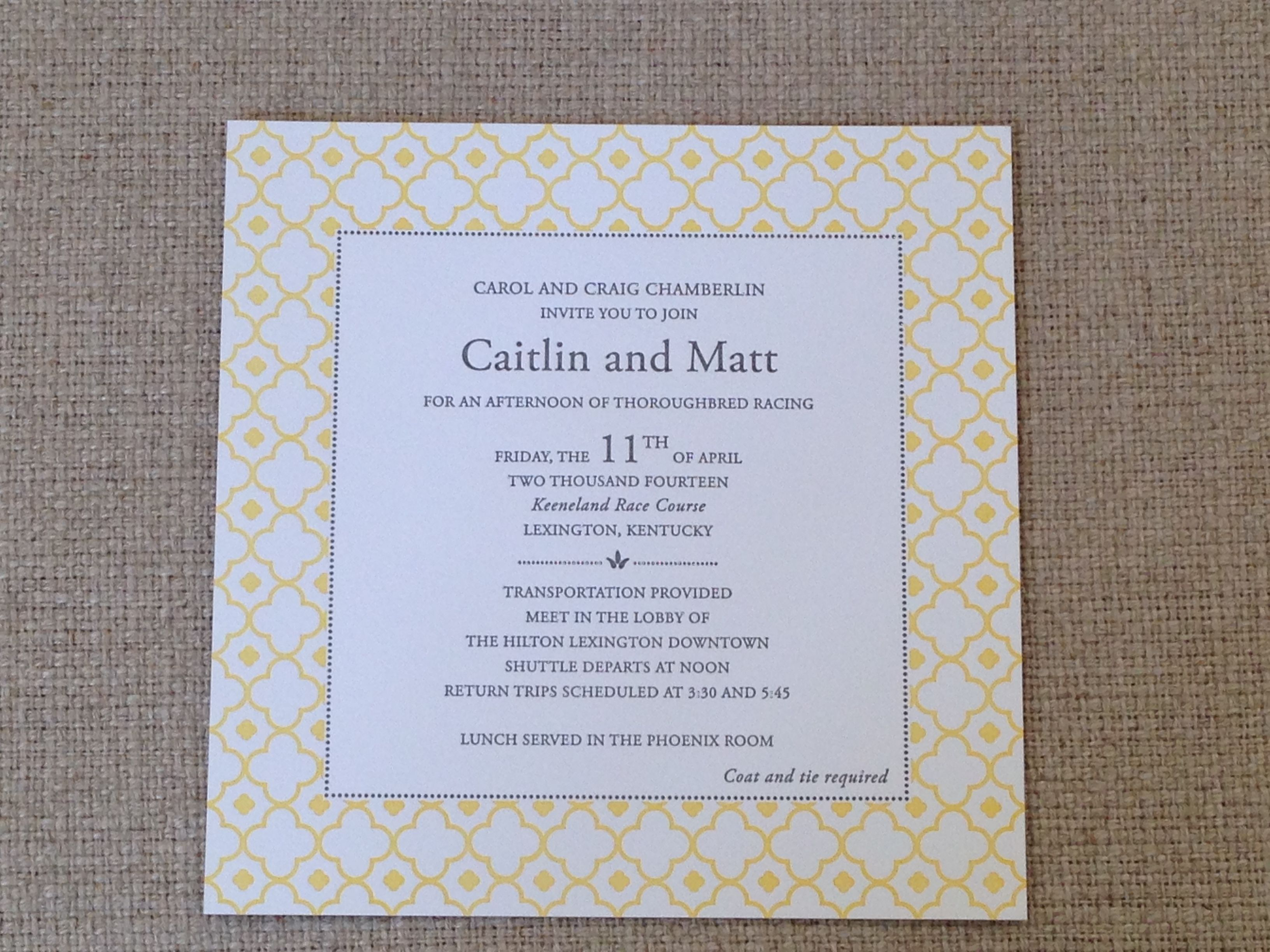 Awesome #letterpress Wedding Invitation With A Fresh #yellow Border. Available At  On Paper Columbus. Letterpress Wedding InvitationsColumbus Ohio Design Ideas
