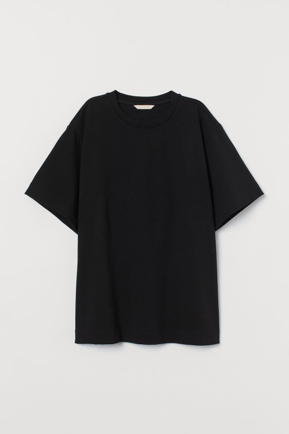 Download Oversized T Shirt Black Ladies H M Gb Oversized Shirt Men Black And White T Shirts Simple Shirts