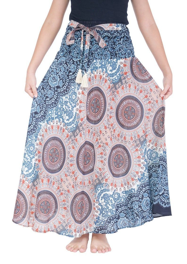 Bohemian Gypsy Skirt Hippie Style Clothing Women's Long   Etsy   summer outfits women over