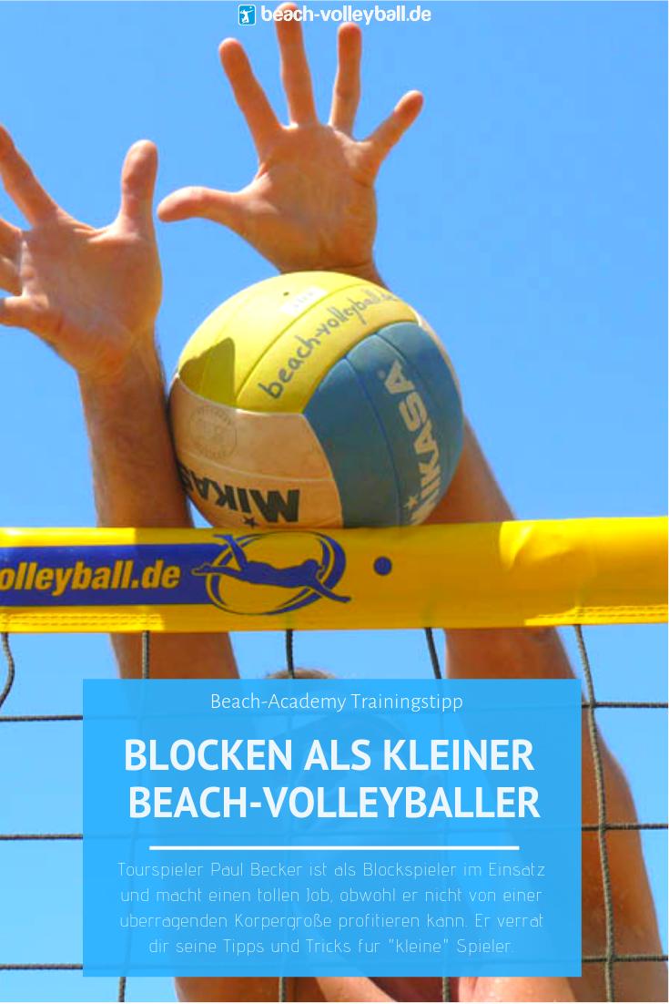 Traininstipp Blocken Fur Kleine Beach Volleyballer Trainieren Volleyball Beach Volleyball