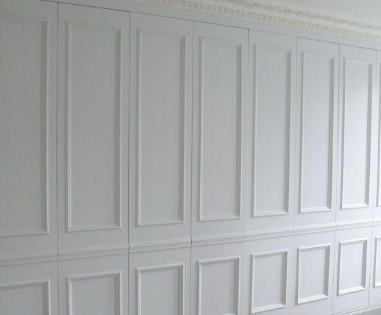 Wall Paneling Hidden Storage Wardrobe Doors Wall Closet Hidden
