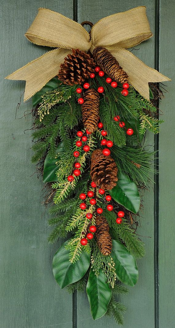 Simply Christmas - Pine, Cone and Berry Swag, Winter Swag, Winter Wreath, Christmas Wreath, Christmas, Winter, New Year's Eve, Holiday