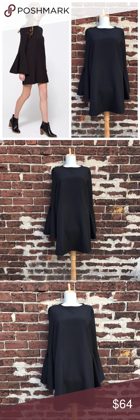 Need Supply Co M Farrow Bell Sleeve Magda Dress You're bidding on a beautiful mini dress with Bell sleeves by Farrow! Sold at Need Supply Co.   Size medium  Polyester / spandex with polyester lining  Great, gently preloved condition! Need Supply Co Dresses Mini