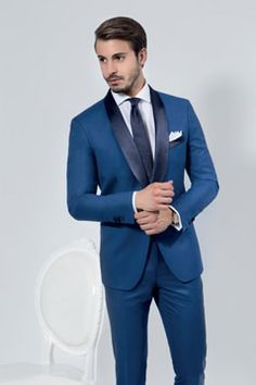 474ae4a503 Vestiti da cerimonia testimone uomo | Men's fashion | Smoking blu ...