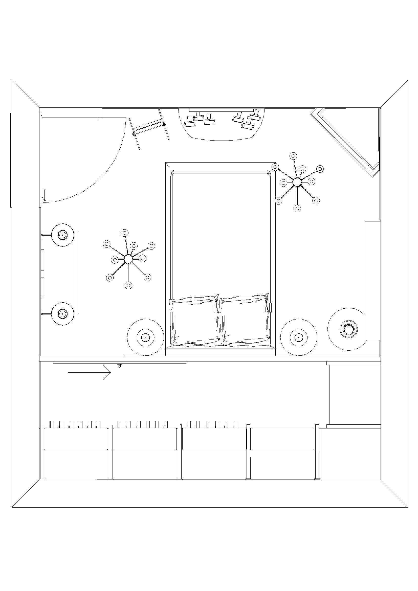 pianta progetto camera con cabina armadio abitabile | Cabina ...