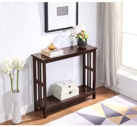 Convenience Concepts Mission Console Table Walmart Com Johar Furniture Console Table Furniture