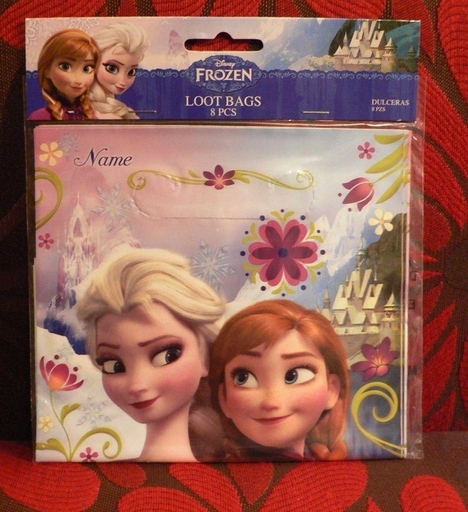 Disney Frozen Birthday Party Loot Favor Bags 8 Count