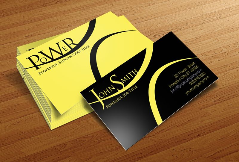 Free business cards collection business cards power power free business card template for photoshop reheart Image collections