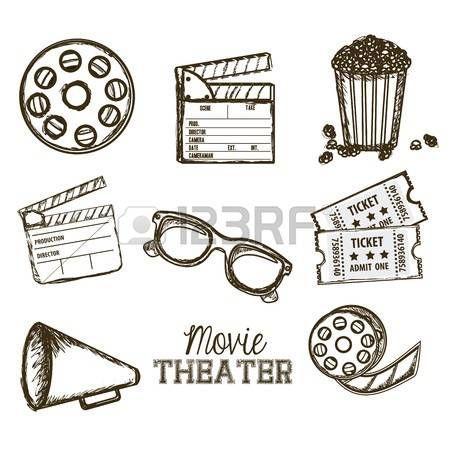Resultado De Imagen Para Pizarra Accion Cine Dibujo Movie Theater Movies Admit One
