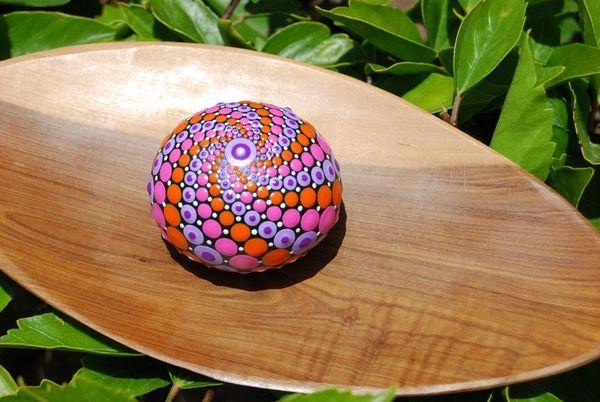 Image of Hand painted mandala sphere 10