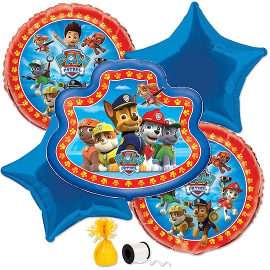 Paw Patrol Balloon Kit By Nickelodeon   Michaels® - Paw patrol decorations, Paw patrol balloons, Paw patrol birthday party, Paw patrol party favors, Paw patrol party, Paw patrol birthday - Brighten up your PAW Patrol birthday party with our PAW Patrol Balloon Kit  For PAW Patrol themed party supplies, shop Michaels  com  Create a cute and colorful balloon display for your child's celebration with this PAW Patrol Balloon Kit  Our PAW Patrol party supplies feature everyone's favorite problemsolving pooches, like Chase, Marshall, Skye, and more  This convenient balloon kit includes everything you need to create an adorable PAW Patrol balloon bouquet for your little pup's PAW Patrol birthday party  Inflate these heliumquality birthday balloons before tying them together with the included curling ribbon  The bright yellow balloon weight will keep the balloons from blowing away, and can hold up to 17 latex balloons or 43 foil balloons  Decorate the room with these PAW Patrol balloons and add even more puppy power to your birthday bash with our other PAW Patrol themed party supplies  Details • PAW Patrol Balloon Kit Includes • 1 Giant Foil PAW Patrol Balloon (28  when fully inflated) • 2 Foil PAW Patrol balloons (18  when fully inflated) • 2 Foil Royal Blue Star Balloons (20  when fully inflated) • 1 Foil Yellow Balloon Weight (4 5  x 2 25 ) • 1 Roll of White Curling Ribbon (50yd)   Paw Patrol Balloon Kit By Nickelodeon   Michaels®
