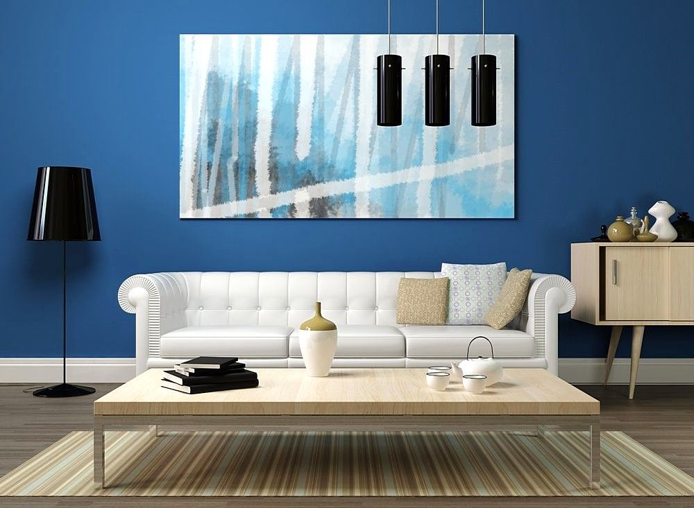 Warna Cat Tembok Ruang Tamu Berwarna Biru