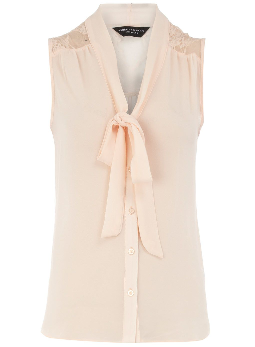 f3d4e11e82dcad dorothy perkins pink lace yoke blouse | dress - s/s | Pink lace tops ...