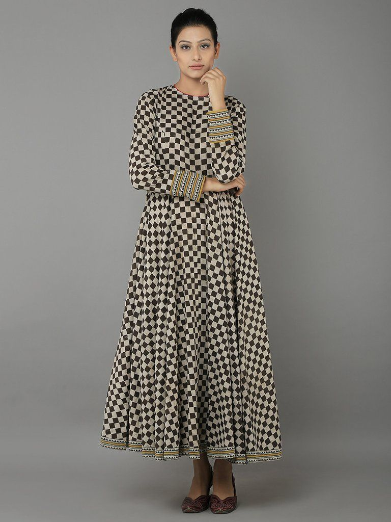 c9cfb5ceda Black Cotton Block Printed Dress