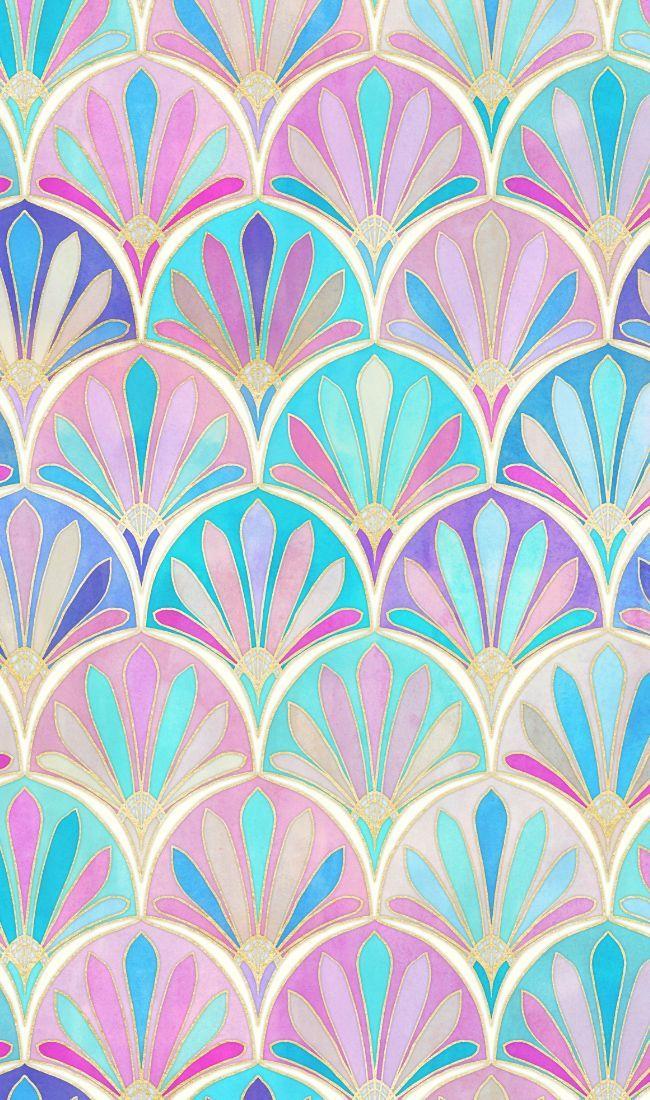 Colorful fabrics digitally printed by Spoonflower - Glamorous Twenties Art Deco Pattern large version
