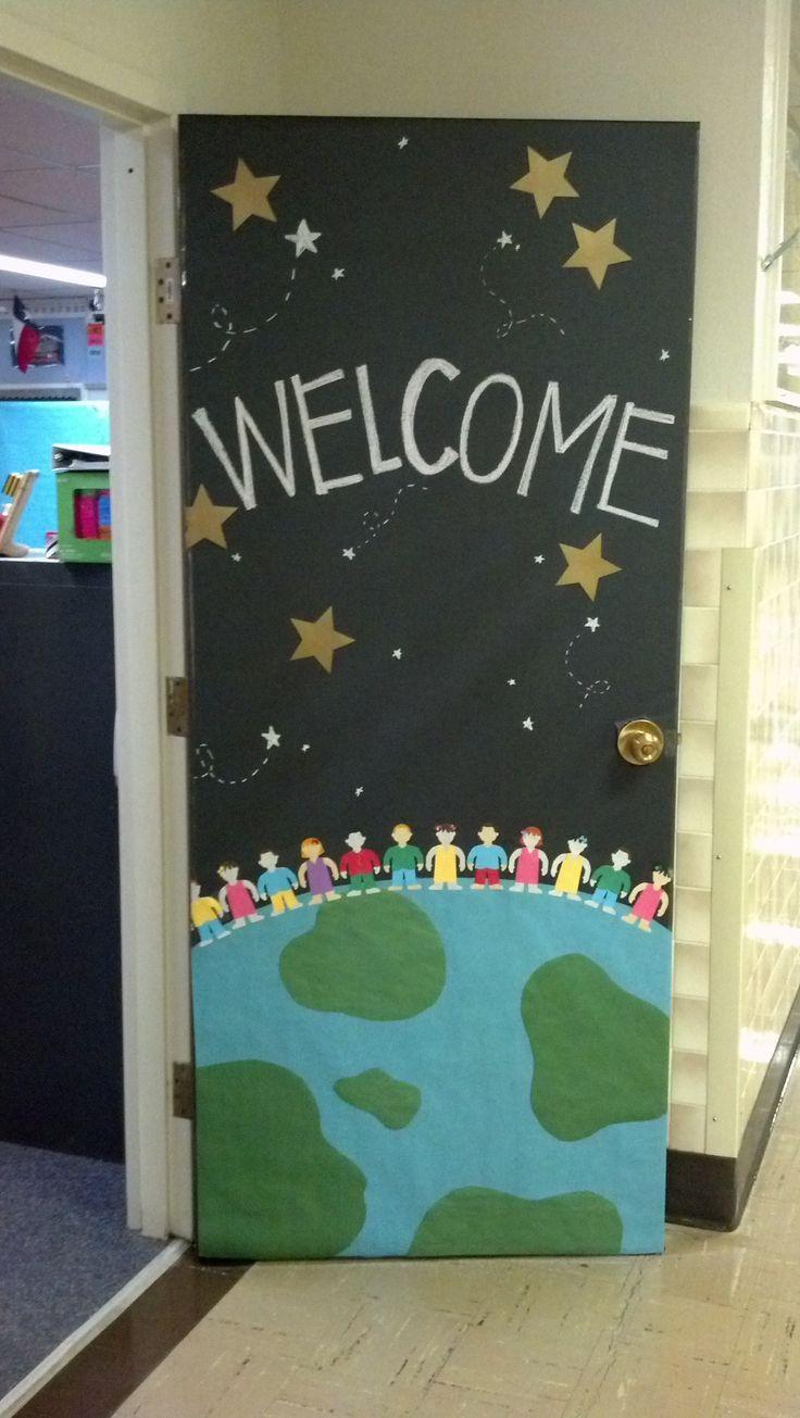 Classe \u2022 Décoration de porte \u2022 Septembre ~ Classroom door - Halloween Classroom Door Decorations
