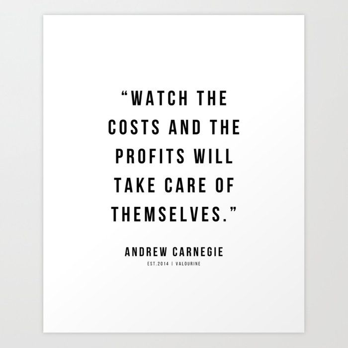 44 |Andrew Carnegie Quotes | 21010 | Motivational Inspirational Success Quote Personal Development Business Coach Art Print by Wordz
