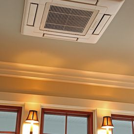 Ductless From The Roof Www Handysideinc Com Ductless Heating And Cooling Ductless Ac Installation