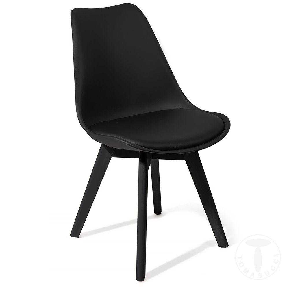 Tomasucci Sedia Kiki Evo Black Sedie Moderne Sedie Imbottite Sedie