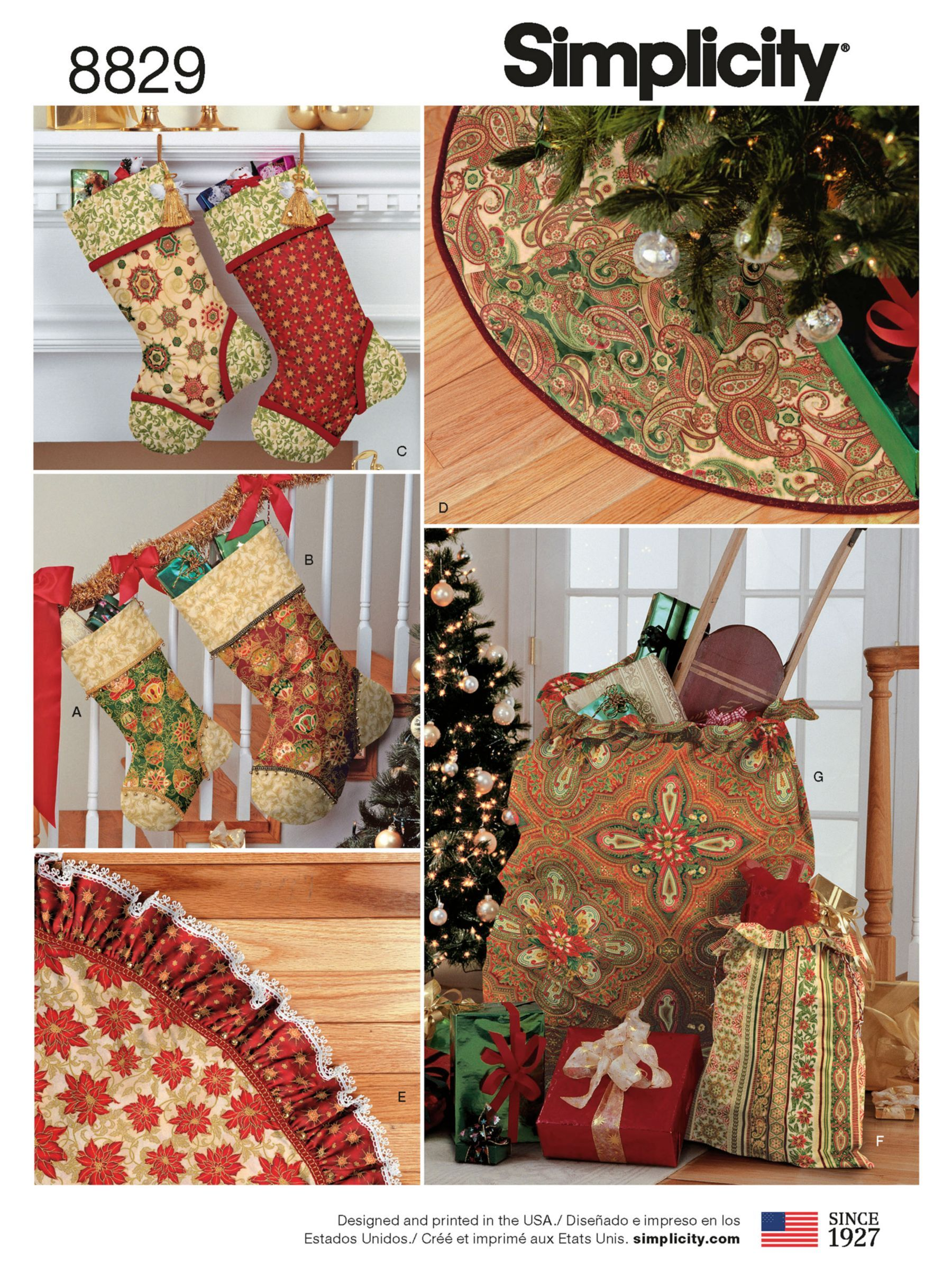 Simplicity Christmas Decor Sewing Pattern, 8829