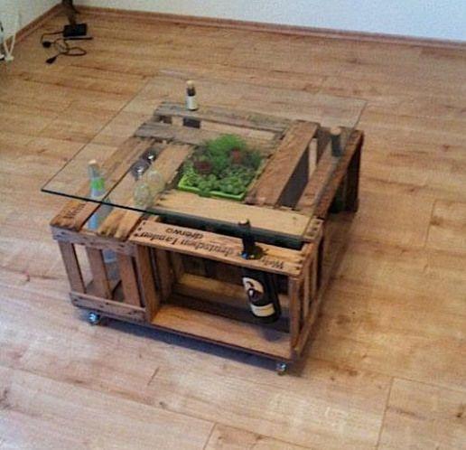 Diy Weinkisten Tisch Wine Crate Table Woodworking