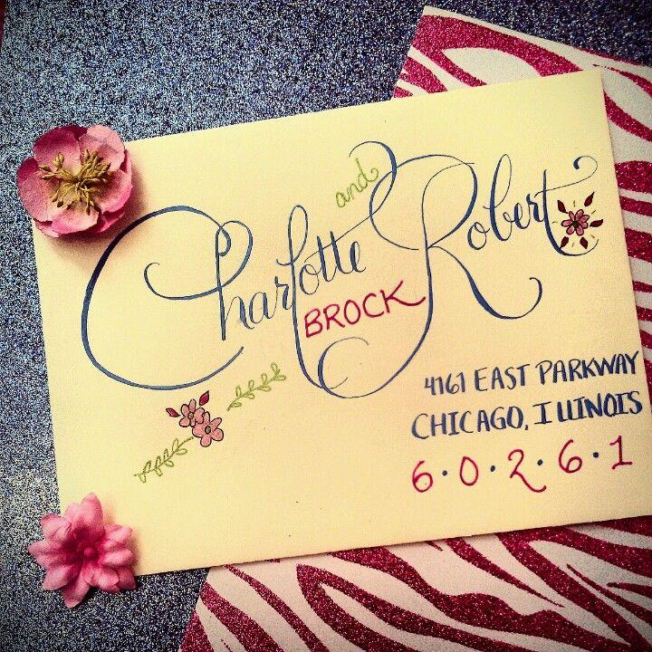 Custom Calligraphy/ Envelope Artwork.