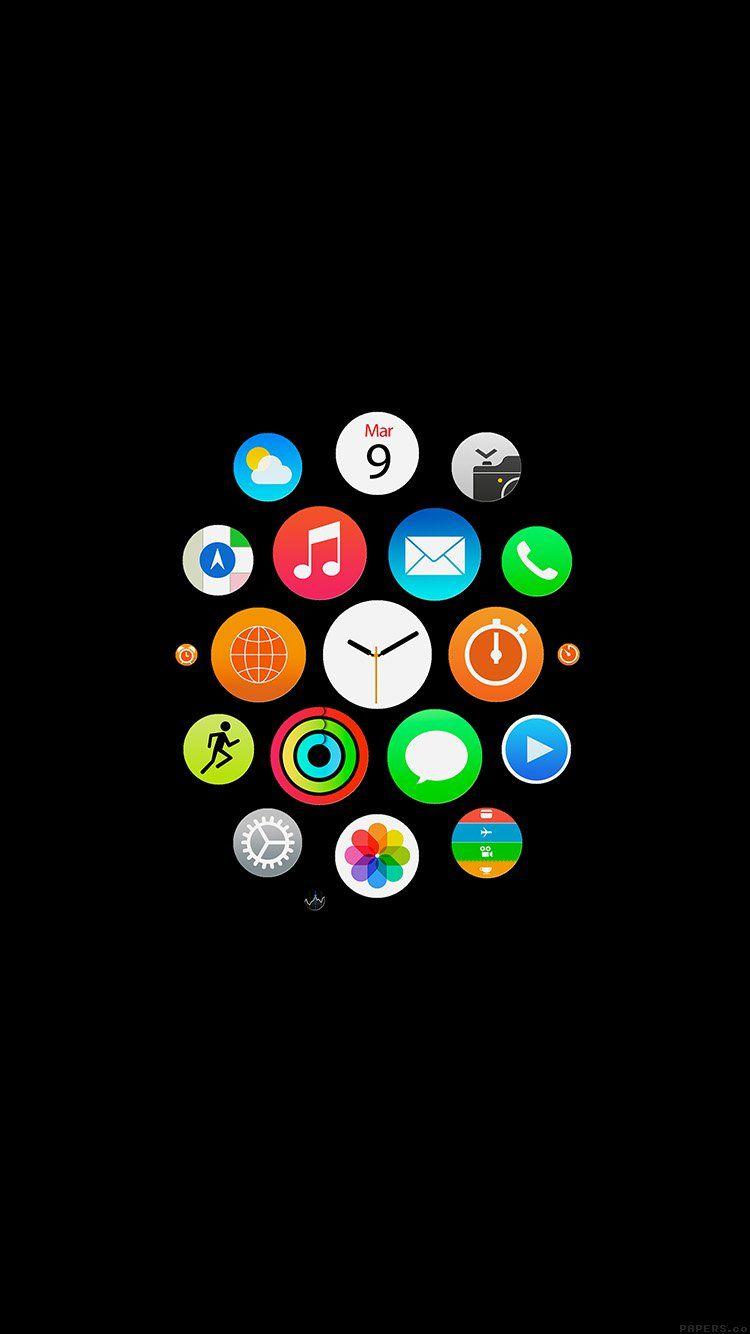 Iphone Wallpapers から保存した Deep さんのアップルロゴ ロック