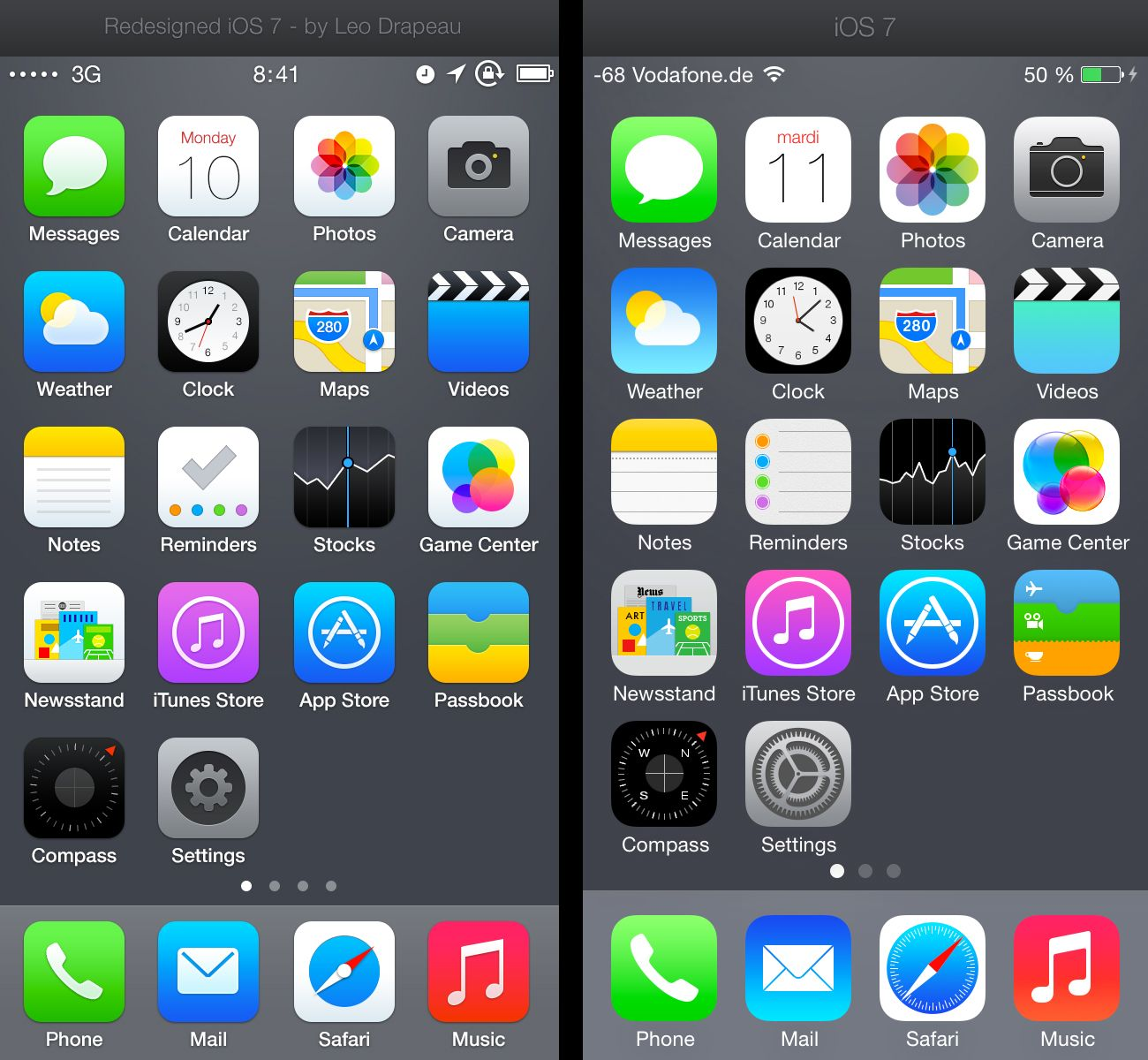 ios7 redesigned already (With images) Ios 7, Iphone apps