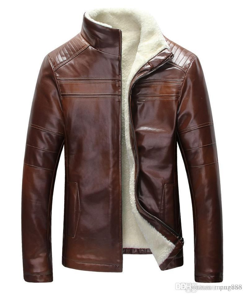 cf0702bad74 New autumn and winter woodpecker real leather jacket haining fur integrated  sheep leather jacket middle age dad jacket m-4xl