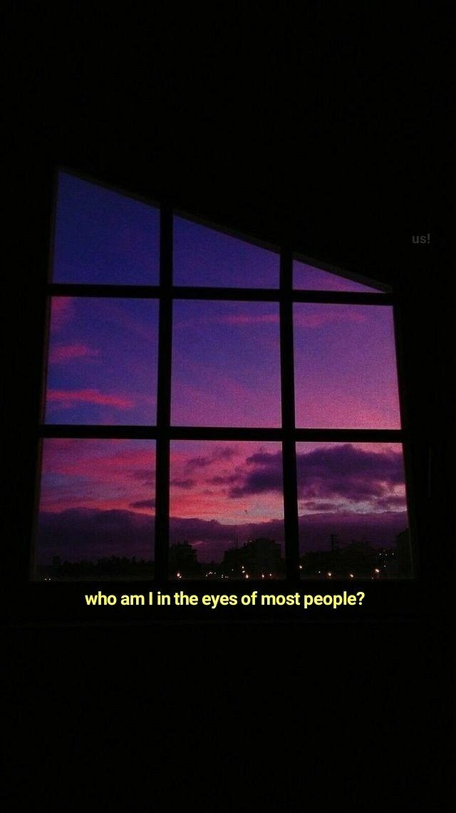 who am i in the eyes of most people?