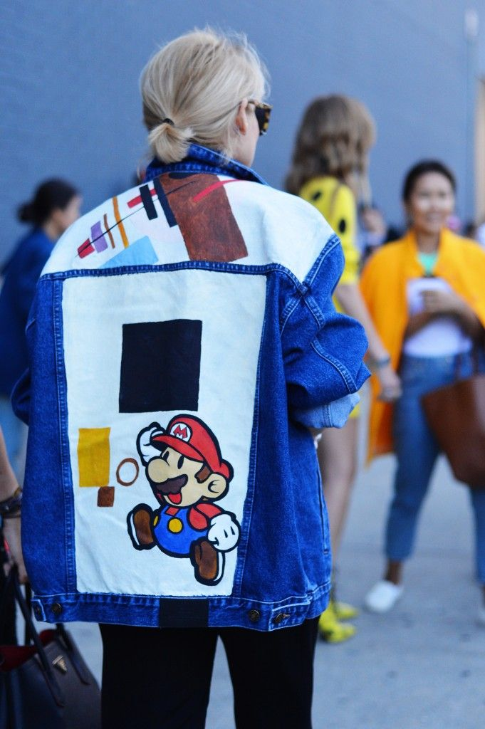 New Week Fashion Spring 2015 Street York Style Mario Super Jean BfBw7qUng
