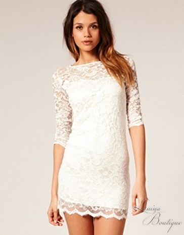 Cream Lace Cocktail Dress Dresses And Gowns Ideas Pinterest