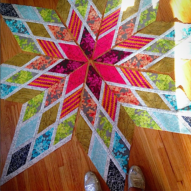 Lone Star Quilt by Better Off Thread | Modern Lone Star Quilt ... : lone star quilt pattern - Adamdwight.com