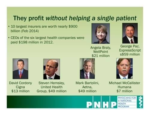 Health insurance companies make outrageous profits. Watch ...